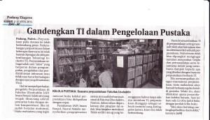 Gandengkan IT untuk Pengelolaan perpustakaan