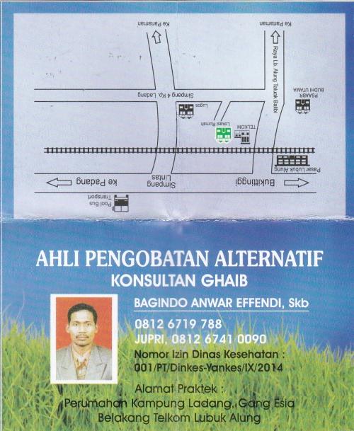Ahli Pengobatan Alternatif (Konsultan Ghaib) Gagindo Anwar Effendi, Skb Hal Depan