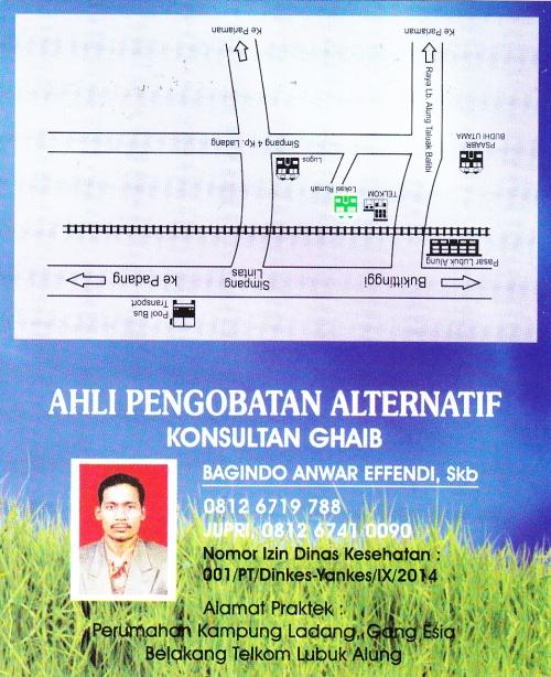 Ahli Pengobatan Alternatif Bagindo  Anwar Effendi Depan